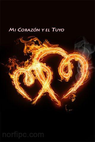 Imagen de amor para el celular: Mi corazón y el tuyo