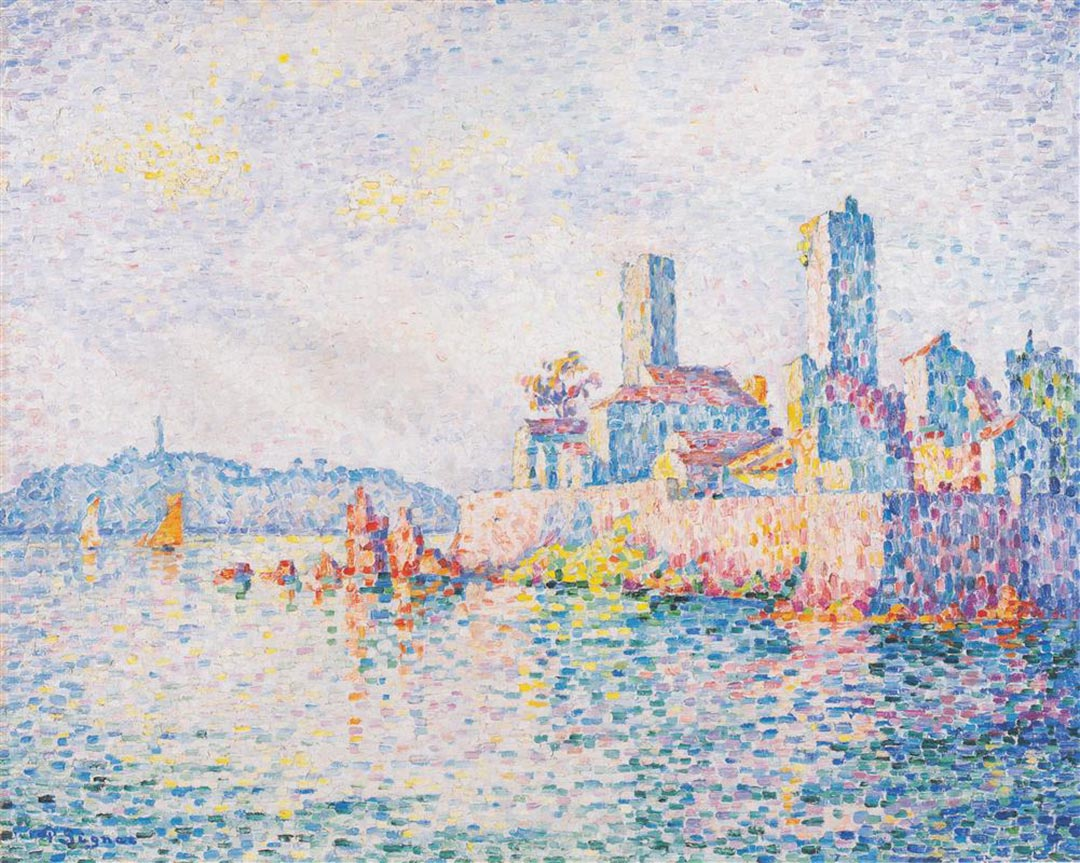 Paul Signac Antibes, The Towers, 1911, impresionismo
