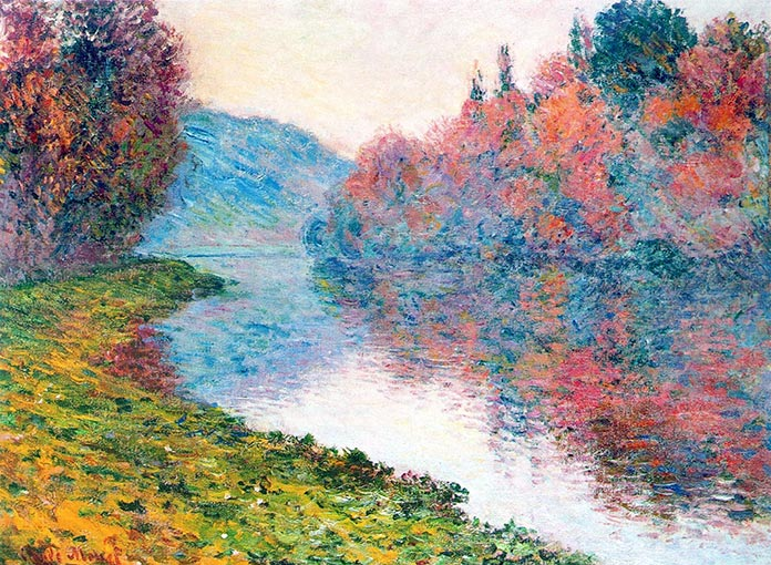 Claude Monet - Banks of the Seine at Jenfosse - Clear Weather, 1884