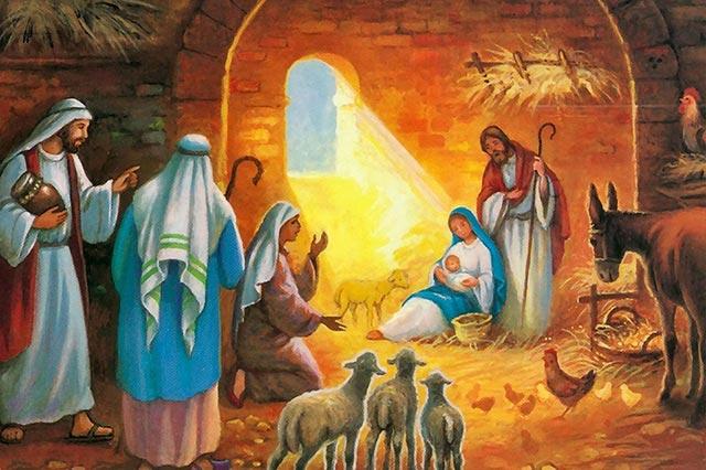 Dibujos De Navidad Del Nacimiento De Jesus.El Dia De Navidad O Natividad Del Senor