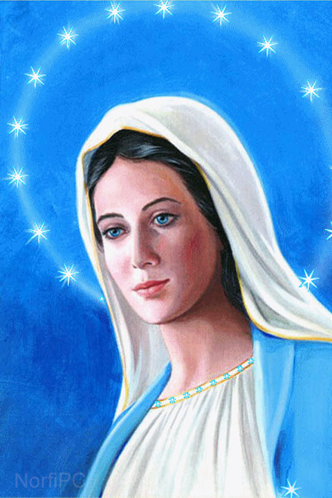 Imágenes de Jesucristo y la Virgen María para fondos de