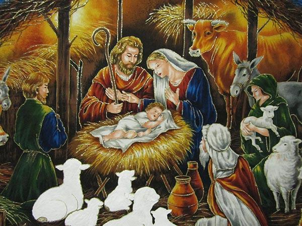 Antigua ilustración del Nacimiento de Jesús de Nazaret