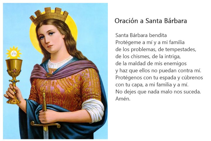 Santa Bárbara Su Historia Imágenes Y Oraciones