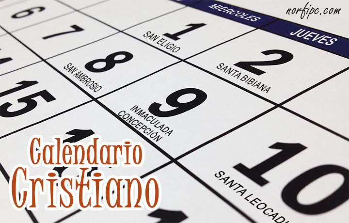 Calendario Con Santos.Calendario De Dias De Los Santos Y Festividades Cristianas