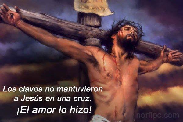 Los clavos no mantuvieron a Jesús en una cruz. ¡El amor lo hizo!