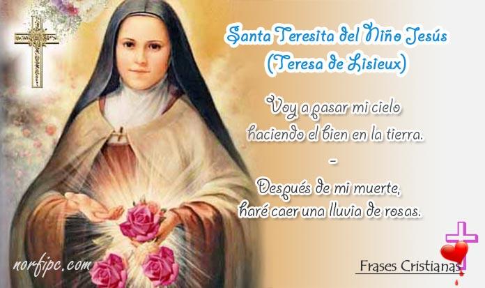 Frases Y Meditaciones Cristianas De Santa Teresita Del Niño