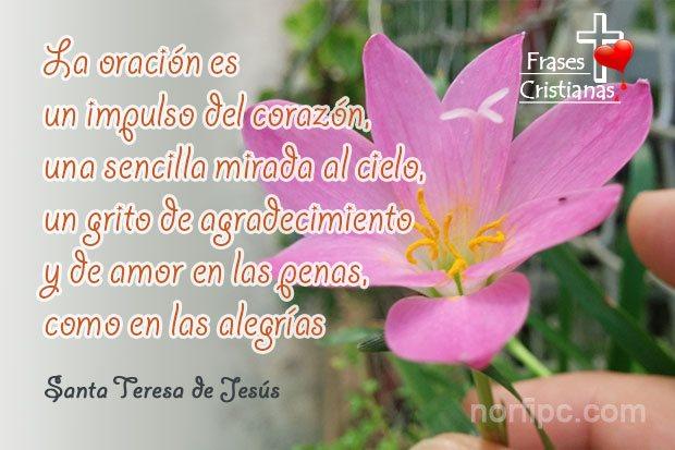 Frases Y Poemas Cristianos De Santa Teresa De Jesús