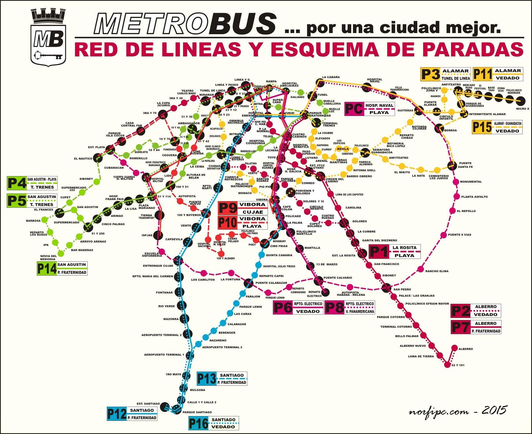 El Metrob 250 S De La Habana Rutas Recorrido Y Paradas