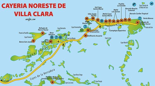 Cayo Largo Cuba Mapa.Mapas De Sitios Turisticos De Cuba Para El Celular