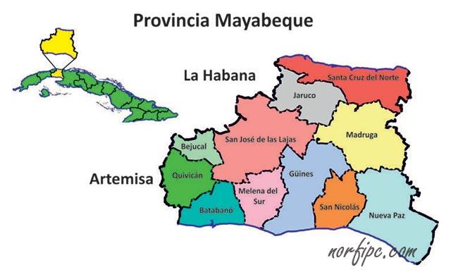 Municipios Pueblos Y Localidades De La Provincia Mayabeque