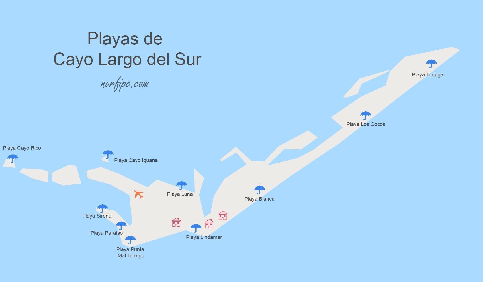 Cayo Largo Cuba Mapa.Las Mejores Playas De Cuba