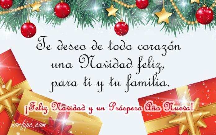 Deseos de navidad para la familia