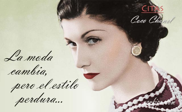 Coco Chanel Citas Sobre La Moda El Arte De Vestir Y Lucir