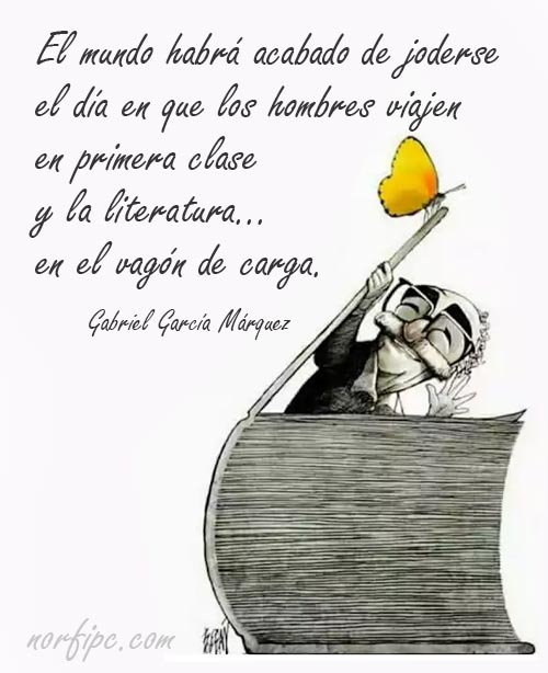 Frase de Gabriel García Márquez sobre los libros