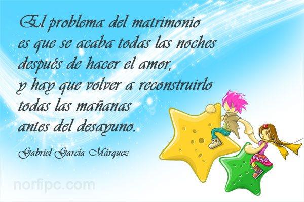 Frase de Gabriel García Márquez sobre el amor en el matrimonio