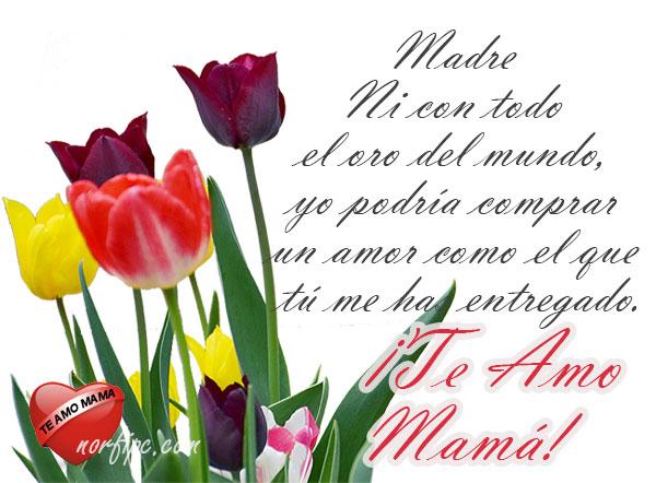Imágenes Decoradas Con Frases Y Versos Para El Día De Las Madres