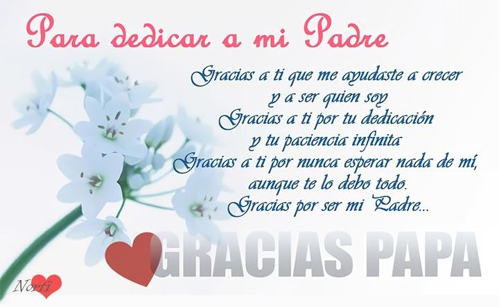Gracias Papa Fotos Con Versos Para Dedicar El Dia Del Padre