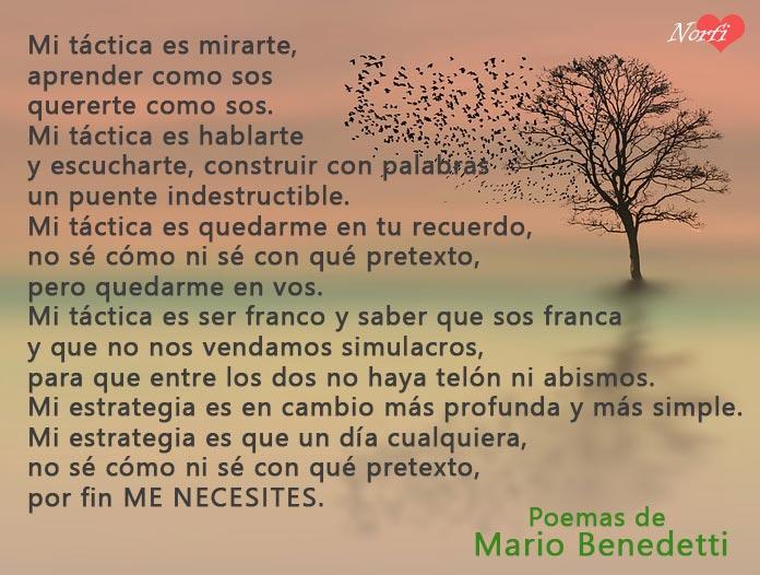 Poemas De Amor De Mario Benedetti