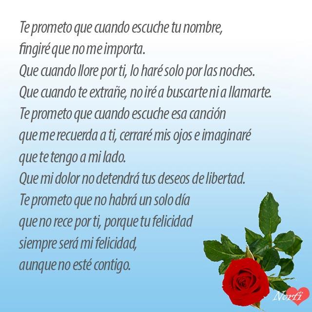 Te prometo, un poema de amor y despedida