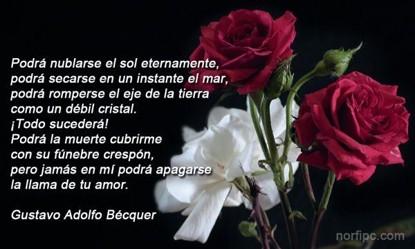 12 Imágenes Románticas Con Frases De Amor Eterno Para Dedicar: Poemas, Poesía Y Versos De Amor Famosos Para Facebook