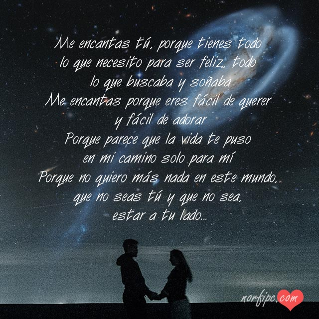 Me Encanta Todo De Ti Poemas Y Frases De Amor Para Dos Enamorados