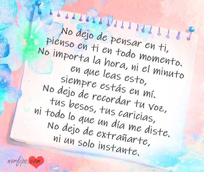 No Dejo De Pensar En Ti Poemas De Amor Para Alguien Ausente