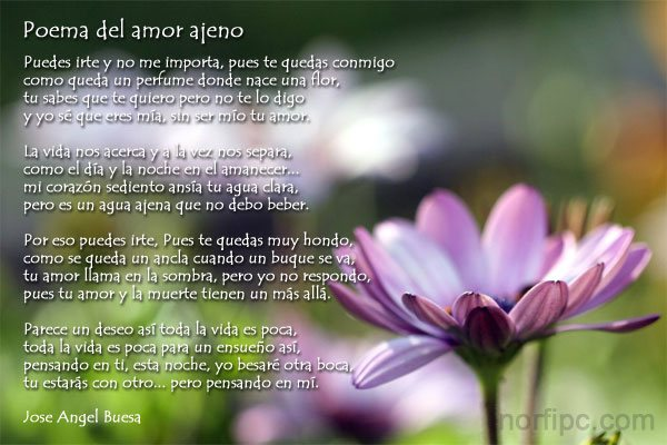 Poemas De Jose Angel Buesa