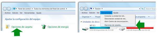Abrir Opciones de carpeta en Windows