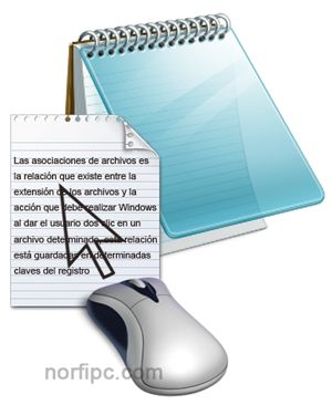 Asociaciones de archivos en Windows