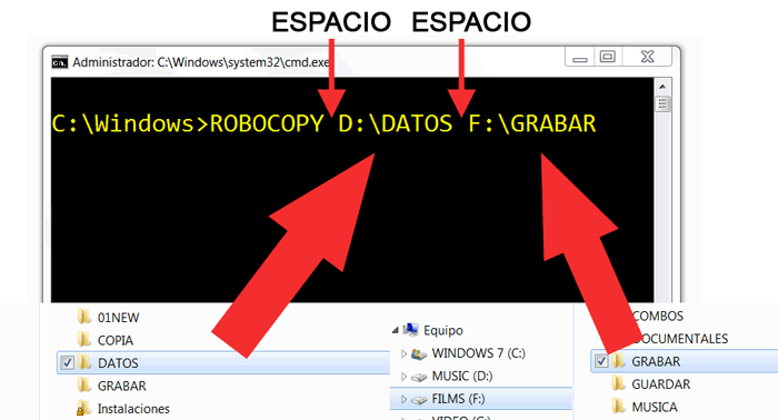 Copiar mas rapido archivos en Windows con el comando ROBOCOPY