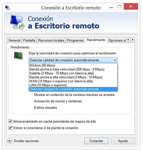 Como crear y utilizar una conexion a escritorio remoto en for Conexion escritorio remoto windows 8