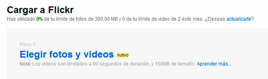 Subir las fotos a Flickr