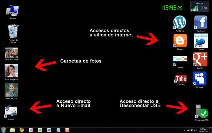 Resultado de imagen de personalizar escritorio usuarios windows