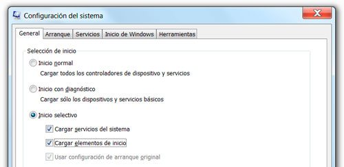 Usar inicio selectivo para arrancar Windows