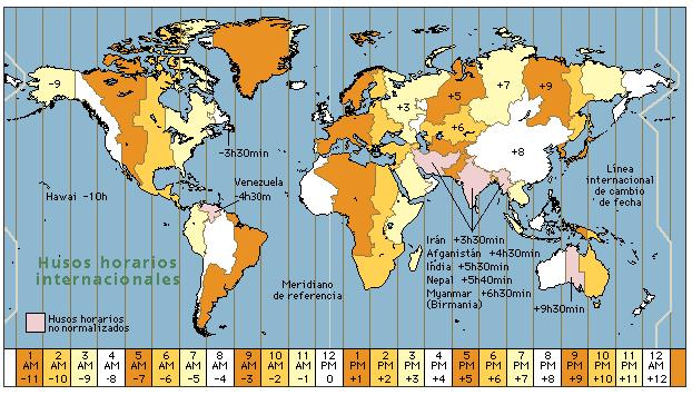 horario mundial mapa Horario en todas las ciudades y paises del mundo horario mundial mapa