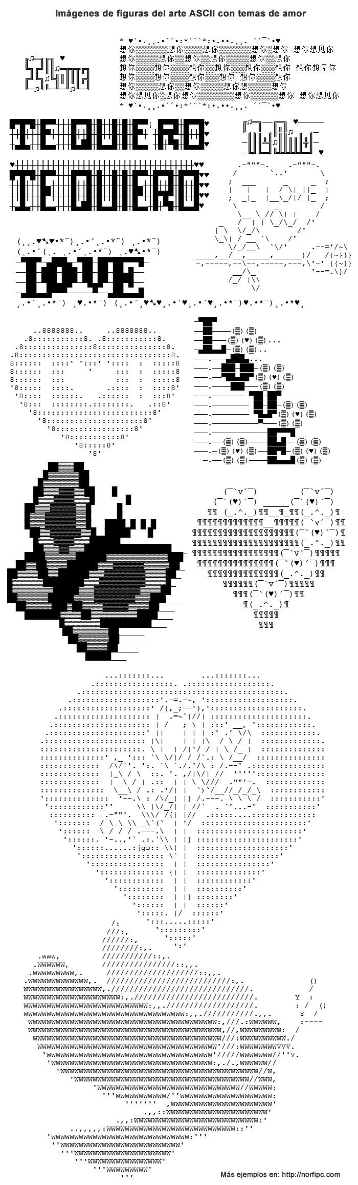 Como hacer dibujos y figuras del arte ASCII para usar en Facebook