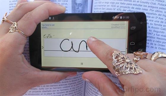 Escribir A Mano Y Tomar Notas En La Pantalla Del Celular O Tableta
