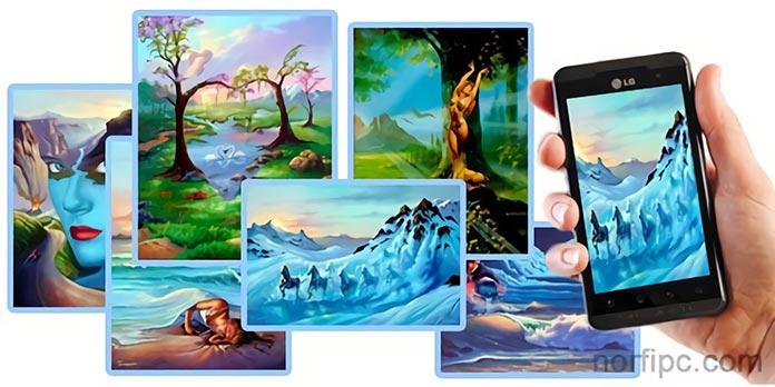 Imágenes y fondos de pantalla artísticos para celulares y móviles