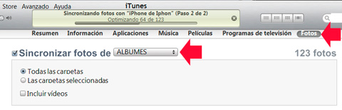 Sincronizar el iPhone con iTunes