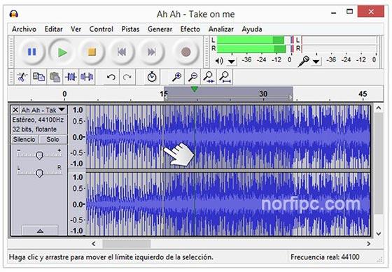 Recortar una canción con Audacity para usar como tono en el celular