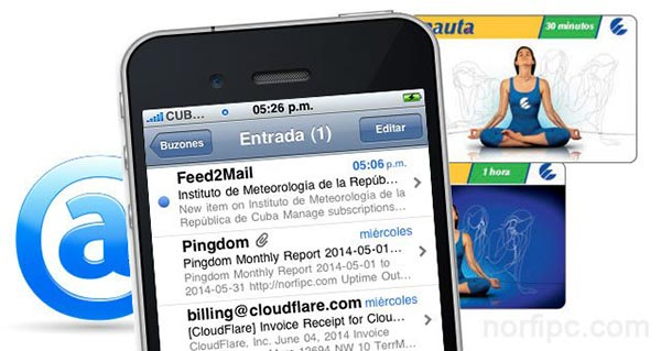 Crear una cuenta de correo en Cuba con el servicio de Nauta y usarla en el teléfono celular