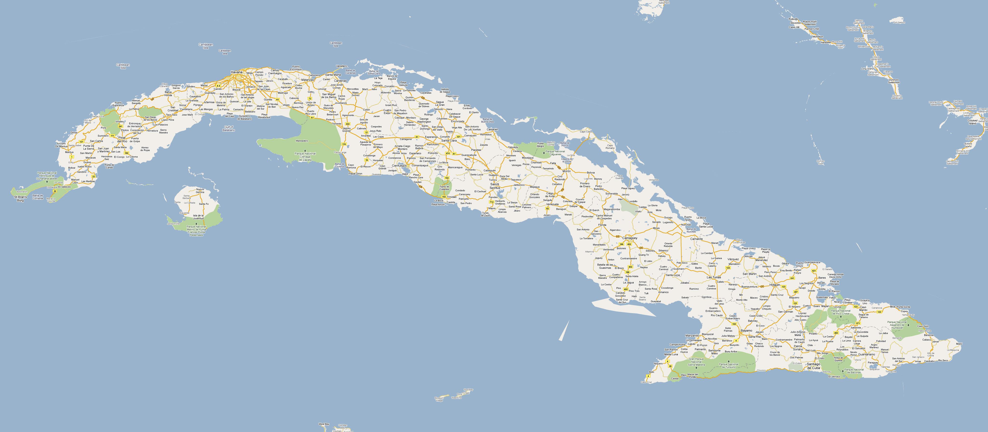 Mapas de cuba en varios formatos para descargar ver mapa de cuba de google maps gumiabroncs Choice Image