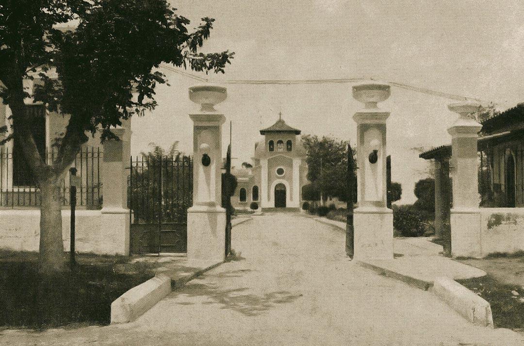 El Hospital de San Lázaro, en 1917 en El Rincón, Santiago de Las Vegas