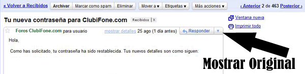 Buscar header en Gmail
