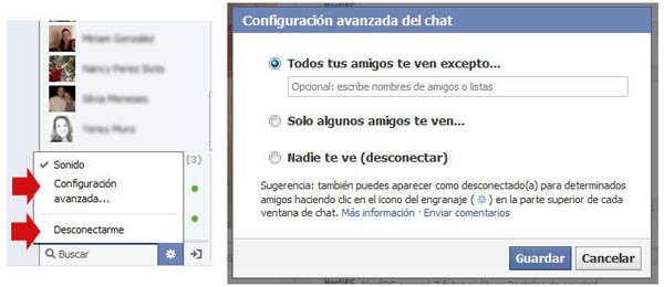 Configurar el chat de Facebook
