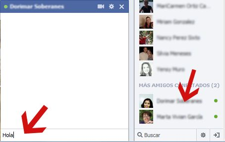 Como usar chat de Facebook