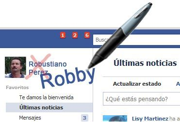 Usar un nick en Facebook