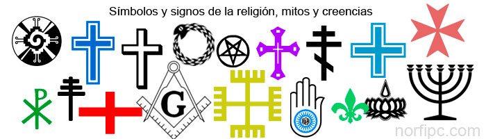 Símbolos y signos de la religión, las iglesias y creencias, su significado