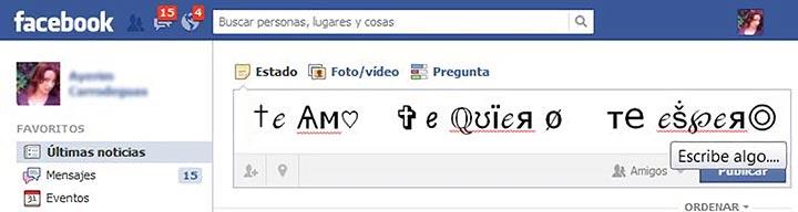 Simbolos adornos signos iconos y caracteres para Facebook gratis