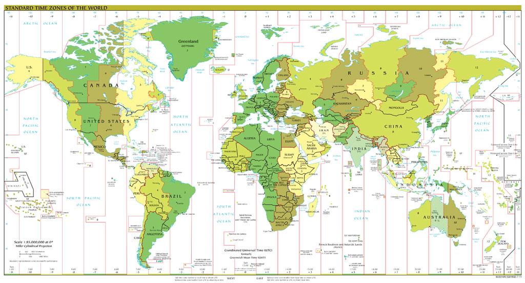 Horario en todas las ciudades y paises del mundo